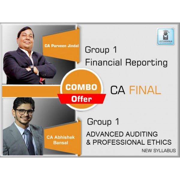 CA Final FR & Audit New Syllabus Combo : Video Lecture + Study Material by CA Abhishek Bansal & Parveen jindal (For May & Nov. 2019)