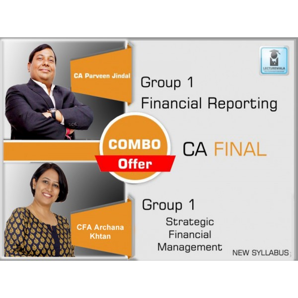 CA Final FR + SFM Combo : Video Lecture + Study Material by CA Parveen Jindal & CA Archana Khetan (For May & Nov. 2019)