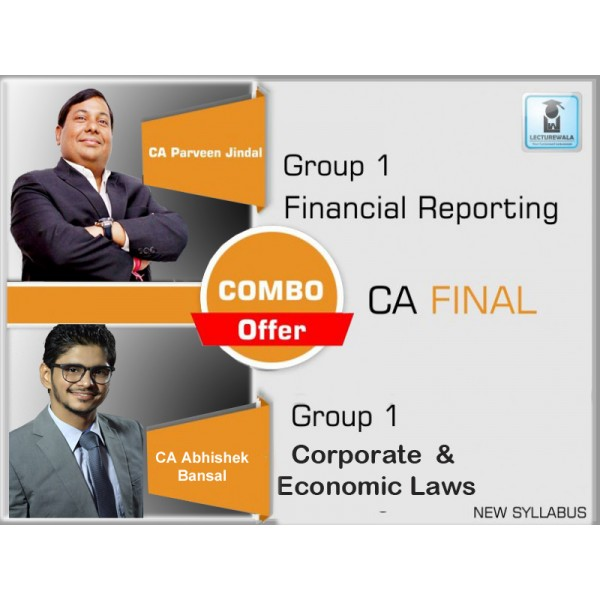 CA Final FR + Law Combo : Video Lecture + Study Material by CA Parveen Jindal & CA Abhishek Bansal (For May & Nov. 2019)