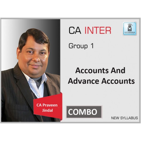 CA Inter Accounts And Adv. Accounts Combo Regular Course : Video Lecture + Study Material By CA Parveen Jindal (For Nov. 2019 &  Onwards)