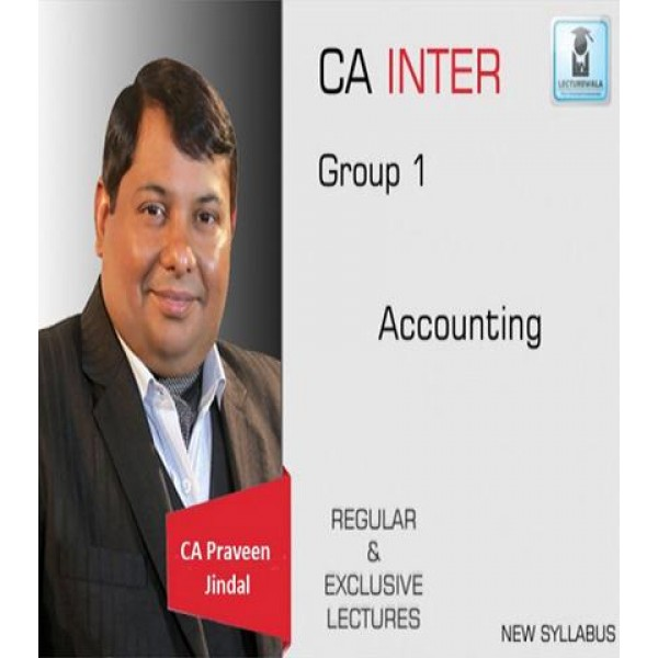 CA Inter Accounts Full Course : Video Lecture + Study Material by CA Parveen jindal (For May 2020 & On wards)