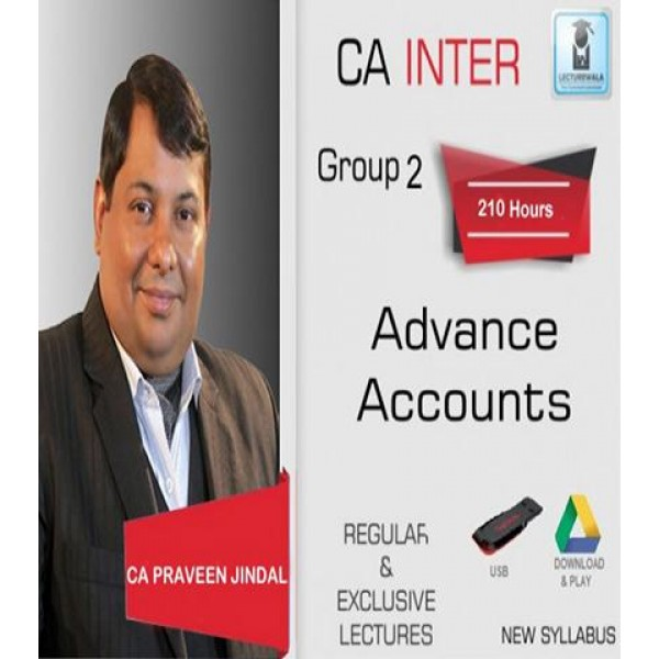 CA Inter Advance Accounting Full Course : Video Lecture + Study Material by CA Parveen Jindal (For May 2020 & Onwards)