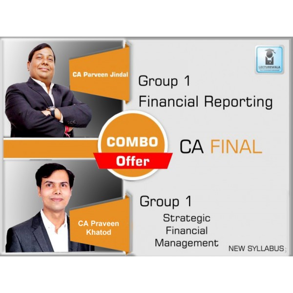 CA Final FR + SFM COMBO : Video Lecture + Study Material by CA Parveen Jindal & CA Praveen Khatod (For May & Nov. 2019)