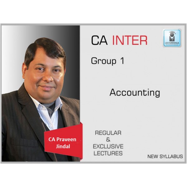 CA Inter Accounts Full Course : Video Lecture + Study Material by CA Parveen jindal (For May & Nov. 2019)