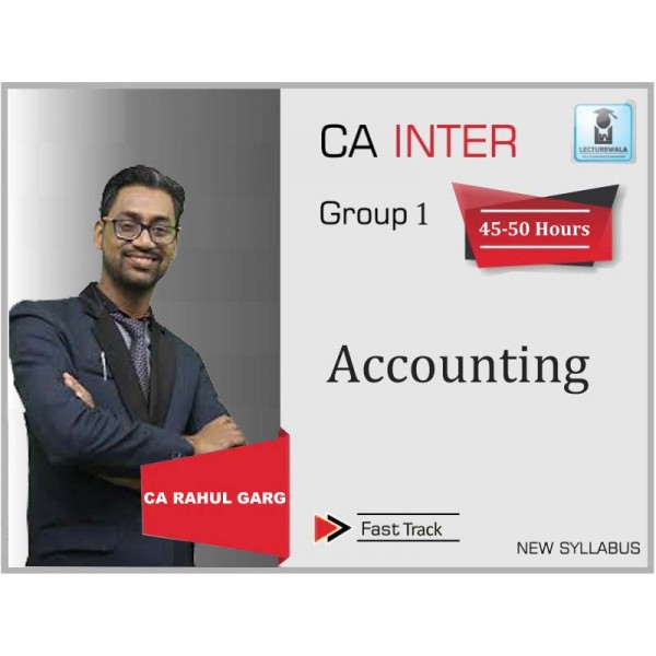 CA Inter Accounts Crash Course New Course : Video Lecture + Study Material By CA Rahul Garg (For Nov. 2019 & May 2020)