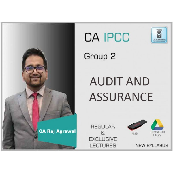CA Ipcc Audit and Assurance Regular Course : Video Lecture + Study Material By CA Raj Agrawal (For May 2020 & Nov. 2020)