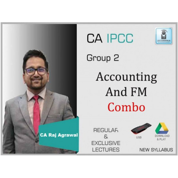 CA IPCC Cost Accounting & Financial Management Regular Course Combo : Video Lecture + Study Material By CA Raj Agrawal (For Nov. 2019 & Onwards)