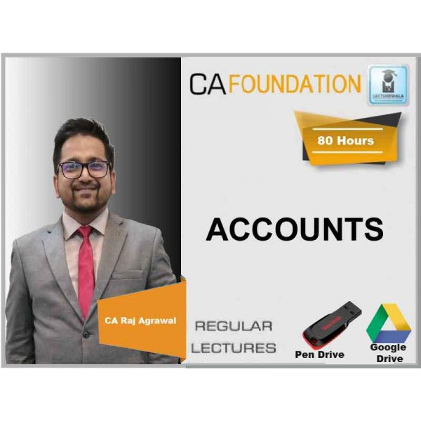 CA Foundation Accounts Regular Course : Video Lecture + Study Material By CA Raj Agrawal (For NOV. 2019)