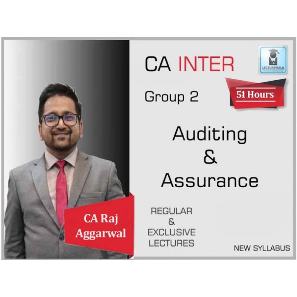 CA Inter Audit Regular Course : Video Lecture + Study Material By CA Raj Agrawal (For May 2020 & Nov. 2020)