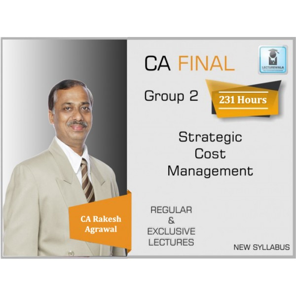 CA Final SCMPE Regular Course Version 3 New Syllabus : Video Lecture + Study Material By CA Rakesh Agrawal (For May 2020 & Nov. 2020)