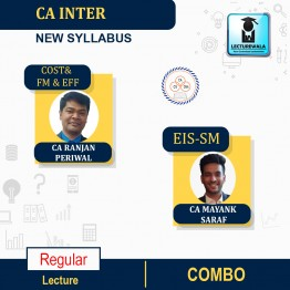 CA Inter Cost and FM & EFF AND EIS-SM Combo New Syllabus : Video Lecture + Study Material by CA Ranjan Periwal And CA Mayank Saraf (For NOV 2021 / MAY 2022)