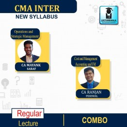 CMA Inter Operations and Strategic Management & Cost and Management Accounting and FM Combo (Paper 9 and Paper 10) Regular Course : Video Lecture + Study Material by CA Ranjan Periwal and CA Mayank Saraf (For DEC 2021 / JUNE