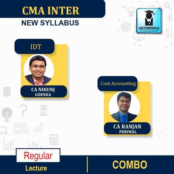 CMA Inter Combo  (Indirect Tax + Cost Accounting)  Regular Course New Syllabus : Video Lecture + Study Material By CA Nikunj Goenka & CA Ranjan Periwal (For June 2021 & Dec. 2021)