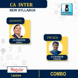 CA Inter Accounts And FM-ECO. New Syllabus : Video Lecture + Study Material by CA PARVEEN JINDAL AND CA Ranjan Periwal (For May / Nov. 2021)