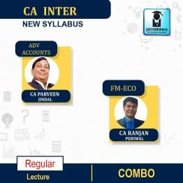 CA Inter Adv.Accounts & FM-ECO New Syllabus : Video Lecture + Study Material by CA Parveen Jindal & CA Ranjan Periwal (For May / Nov. 2021 & May 2022)