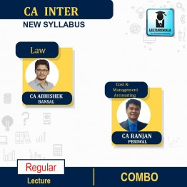 CA Inter Law And Cost & Management Accounting New Syllabus : Video Lecture + Study Material by CA Abhishek Bansal AND CA Ranjan Periwal (For May / Nov. 2021)