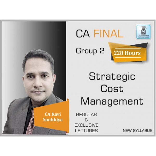 CA Final SCMPE (Costing + Theory) Regular Course New Syllabus : Video Lecture + Study Material By CA Ravi Sonkhiya (For Nov. 2020 & ONWARDS)