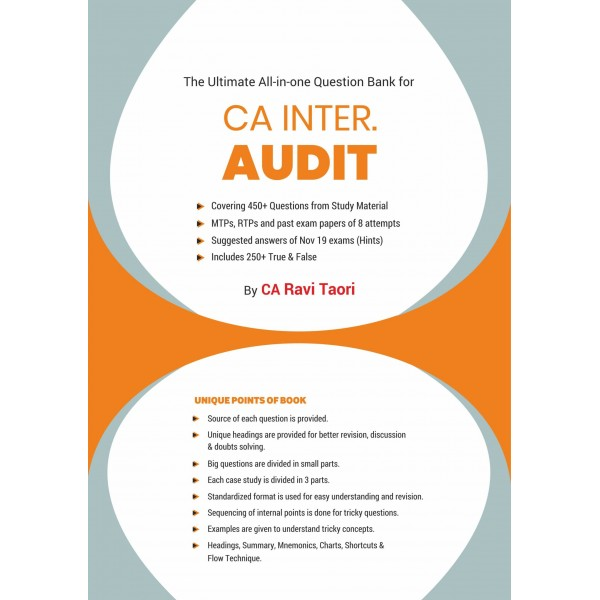 CA INTER Audit  All In One Question Bank By CA Ravi Taori (For May 2020 & Onwards)