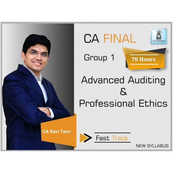 CA Final Audit Crash Course : Video Lecture + Study Material By CA Ravi Taori (For Nov. 2019 & May 2020)