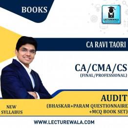 CA Final/CMA FINAL & CS PROFESSIONAL AUDIT Bhaskar+Param Questionnaire +MCQ Book Set : Study Material By CA Ravi Taori (For MAY 2021& NOV.2021)