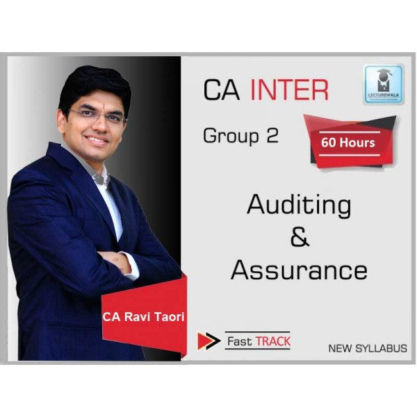 CA Inter Audit Fast Track : Video Lecture + Study Material By CA Ravi Taori (For May & Nov. 2019)