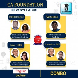 CA Foundation All Subject Combo Regular Course : Video Lecture + Study Material By Reliable Classes (For Nov. 2021 & Onwards)