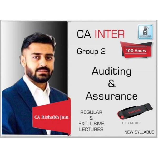 CA Inter Audit And Assurance Regular Course : Video Lecture + Study Material By CA Rishabh Jain (For May 2020 & Nov. 2020)