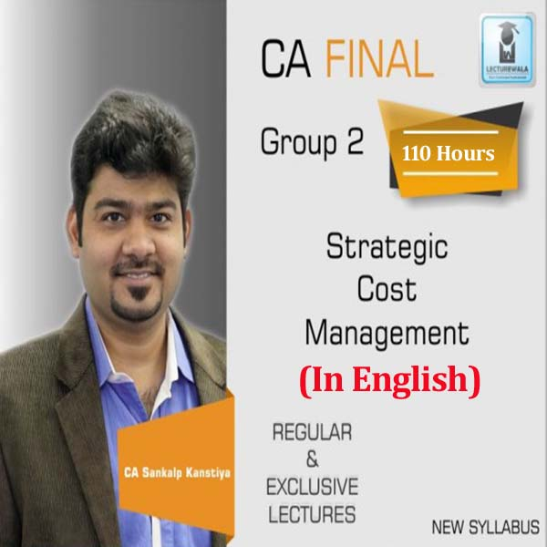 CA Final SCMPE (Costing New) Full Course in English : Video Lecture + Study Material By CA Sankalp Kanstiya (For May 2020)