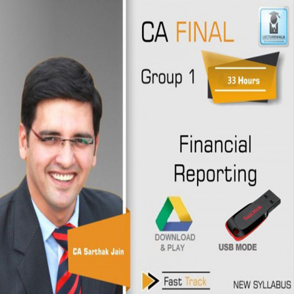 CA Final FR New Syllabus Crash Course : Video Lecture + Study Material By CA Sarthak Jain (For May 2020 & Nov. 2020)