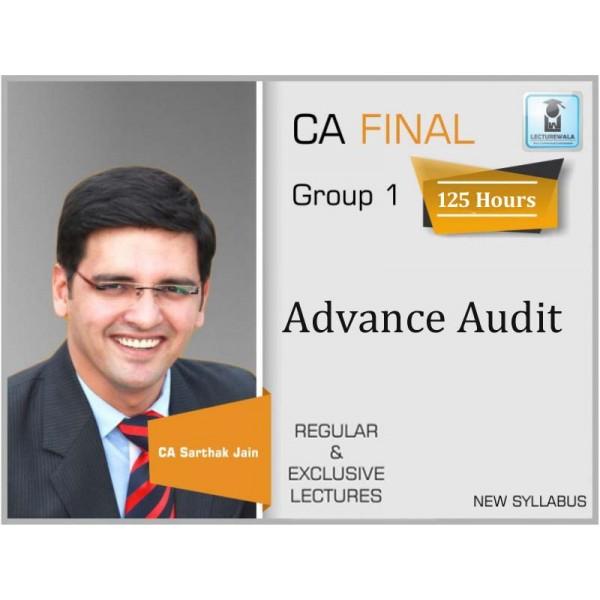 CA Final Audit New Syllabus Regular Course As Per Revised Syllabus : Video Lecture + Study Material By CA Sarthak Jain (For Nov. 2019 & Onwards)