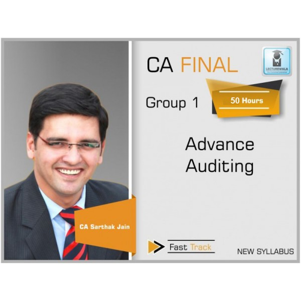 CA Final Audit New Syllabus Crash Course : Video Lecture + Study Material By CA Sarthak Jain (For Nov. 2019 & Onwards)