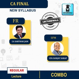 CA Final FR And SFM Combo Regular Course : Video Lecture + Study Material By CA Sarthak Jain& Cfa Sanjay Saraf  (For NOV 2021 & MAY/Nov. 2022)