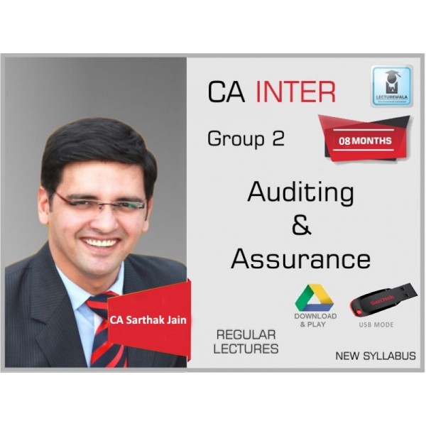 CA Inter Audit and Assurance Regular Course : Video Lecture + Study Material By CA Sarthak Jain (For Nov. 2019 & Onward)