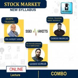 Stock Market Combo 4 in 1(Visual Trading Basic + F&O Simplified + Derpo Trading + Stock Market For Beginners) Course Live Batch : By CFA Sanjay Saraf & Tanish Mangal & Guddu Kumar