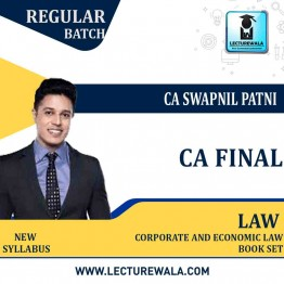 CA Final New Syllabus Group - 1 Corporate & Economic Law Books Set : By CA Swapnil Patni (For Nov.2021 & May 2022)