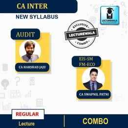 CA Inter FM-ECO.+EIS-SM +AUDIT COMBO Regular Course : Video Lecture + Study Material By CA Swapnil Patni, CA Harshad Jaju,CA  (For NOV. 2021 & May 2022)