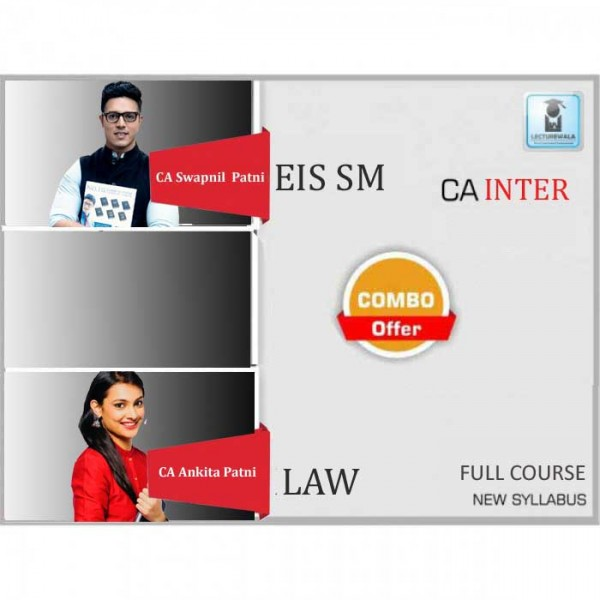 CA Inter Law & Eis Sm Combo New Syllabus Regular Course : Video Lecture + Study Material by CA Ankita Patni & CA Swapnil Patni (For May 2020 & Nov. 2020)