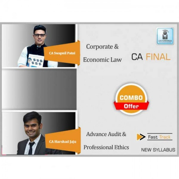CA Final Laws and Audit Combo New Syllabus Latest Recording Crash Course : Video Lecture + Study Material By CA Swapnil Patni & CA Harshad Jaju (For May 2020 & Nov. 2020)