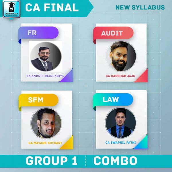 CA Final Combo Group 1 New Syllabus Regular Course : Video Lecture + Study Material (For Nov. 2020 & May 2020)