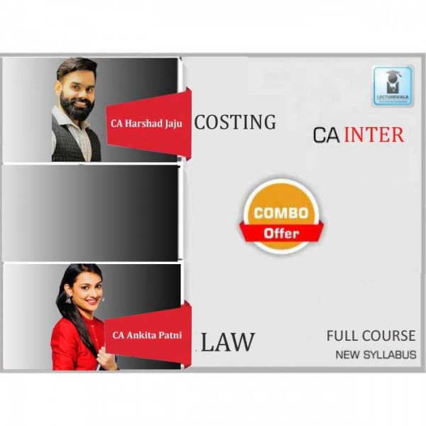 CA Inter Law & Costing New Syllabus Regular Course : Video Lecture + Study Material by CA Ankita Patni And CA Harshad Jaju (For May 2020 & Nov. 2020)