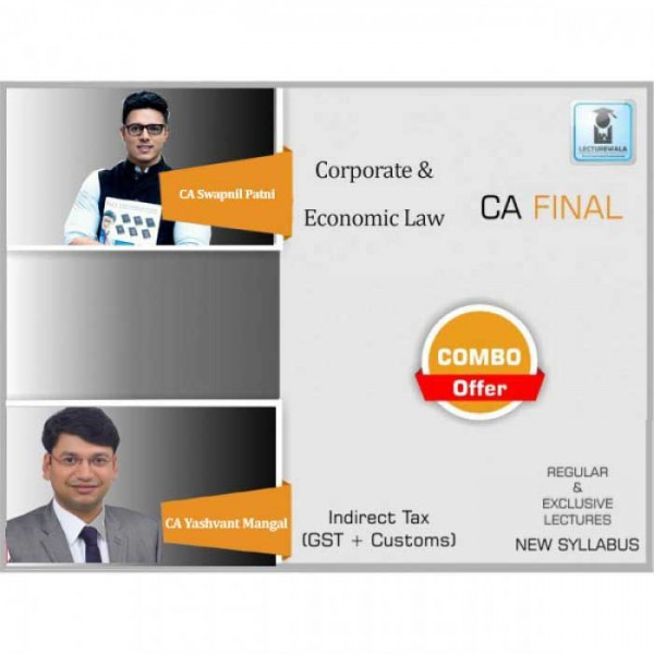 CA Final Laws and IDT Combo New Syllabus  Regular Course : Video Lecture + Study Material By CA Swapnil Patni & CA Yashwant Mangal  (For May 2020 & Nov. 2020)