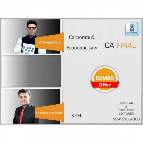 CA Final Laws and SFM Combo New Syllabus  Regular Course : Video Lecture + Study Material By CA Swapnil Patni & CA Mayank Kothari  (For May 2020 & Nov. 2020)
