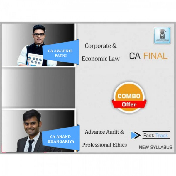 CA Final Law + Audit Crash Course Combo Old Syllabus : Video Lecture + Study Material By CA Swapnil Patni & CA Harshad Jaju (For May 2020 & Nov. 2020)