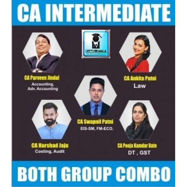 CA Inter Both Group Regular Course Combo : Video Lecture + Study Material By SPC (For May 2020 & Nov. 2020)