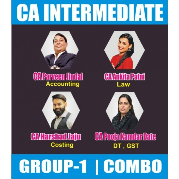 CA Inter Group 1 Regular Course Combo : Video Lecture + Study Material By SPC (For May 2020 & Nov. 2020)