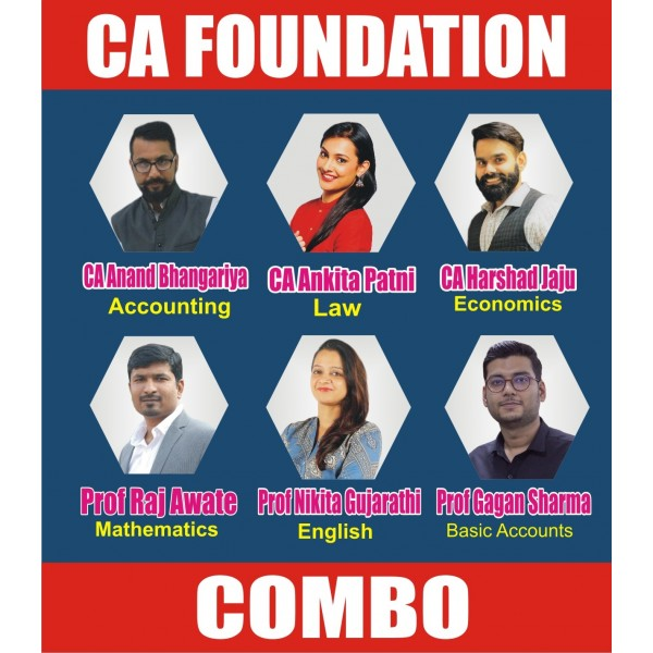 CA Foundation All Subject Combo : Video Lecture + Study Material (For May 2020 & Nov. 2020)