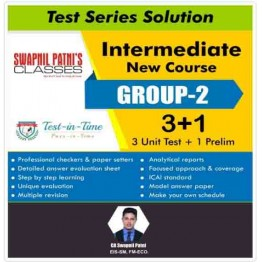 CA Inter Eis Sm and FM Eco Combo Regular Course Test Serial Combo : By CA Swapnil Patni (For MAY 2021 TO NOV.2021)