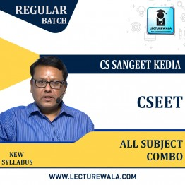 Company Secretary Executive Entrance Test (CSEET) All Sub Combo Regular Course : Video Lecture + Study Material By CS Sangeet Kedia Academy (For Dec 2021 & Onwards)