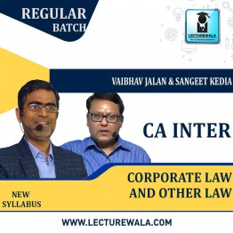 CA Inter CORPORATE LAW And OTHER LAWS Regular Course : Video Lecture + Study Material By Sangeet Kedia & Vaibhav Jalan (For MAY & NOV 2021)