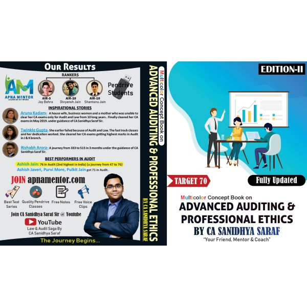 CA Final Advance Audit & Professional Ethics : Study Material By CA Sanidhya Saraf (For Nov. 2019 & May 2020)